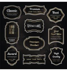 set 6 of design elements sample labels shapes vector image vector image
