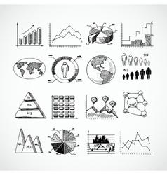 Sketch diagrams set vector image vector image