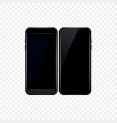 smartphone isolated on transparent background vector image