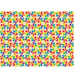 spectrum flowers pattern vector image vector image