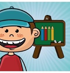 student cartoon color vector image vector image