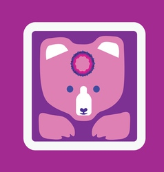 bear icon-design with mandala vector image