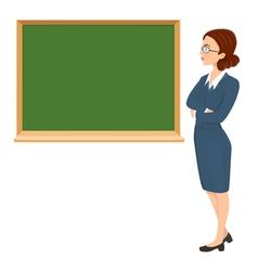 teacher with eyeglasses vector image