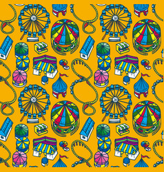 Fair seamless pattern vector