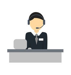 Services operator isolated icon vector