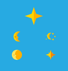 Flat icon bedtime set of bedtime star asterisk vector