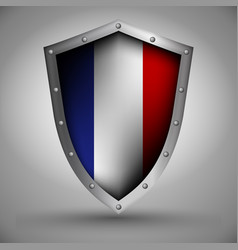 Shield with the netherlands flag vector