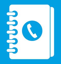 Address book icon white vector