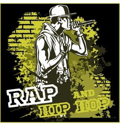 Urban rapper - hip hop vector