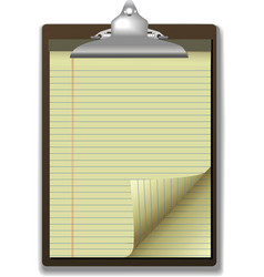 clipboard corner paper page vector image