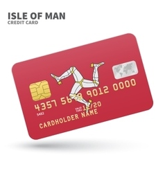 Credit card with isle of man flag background for vector