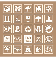 Carton cardboard box icons vector