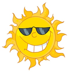 Cool sun wearing shades vector