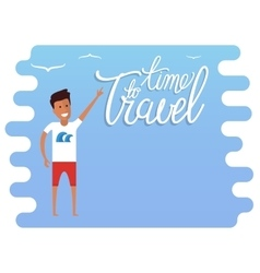 Summer travel advertisement vector