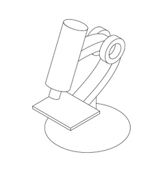 Microscope icon in isometric 3d style vector