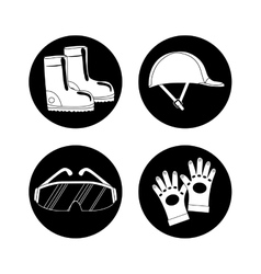 Industrial security safety icon flat design vector