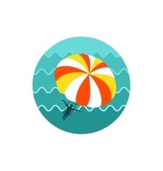 Parasailing summer kiting activity icon vacation vector