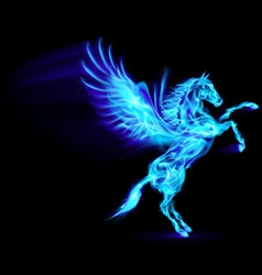 Fair Horse Pegas on hind legs 02 vector image