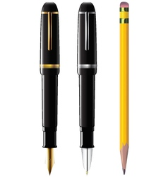 Pencil pen fpen vector