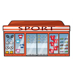 A sports shop vector image