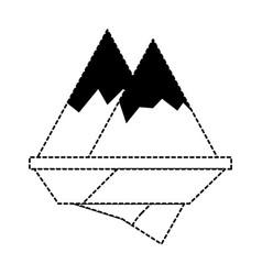 Alps mountains icon vector