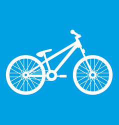 Bike icon white vector