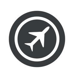 Black round plane sign vector image