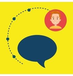 boy connection app icon vector image