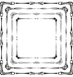 Calligraphic frames vector