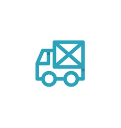 car icon mail envelope on the back logos vector image