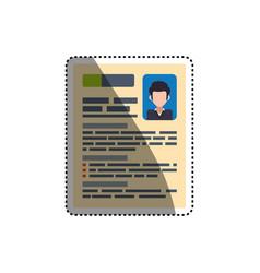 Document curriculum vitae vector