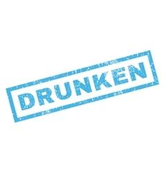 Drunken rubber stamp vector