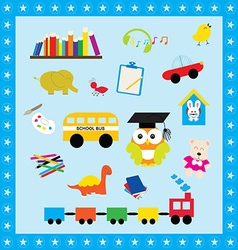Elements collection toys for kid vector image