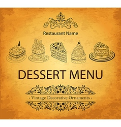 Food and drink menu vector