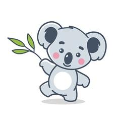 funny koala vector image vector image