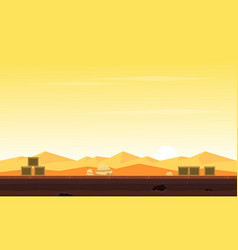 Game background with desert collection vector