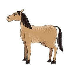 horse cartoon icon vector image vector image
