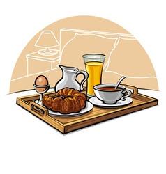hotel breakfast vector image vector image