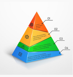 Layers hierarchy pyramid chart presentation vector image