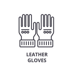 leather gloves line icon outline sign linear vector image vector image