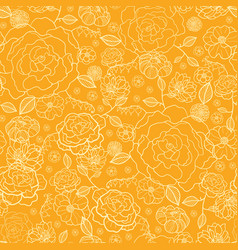 Orange and gold flower garden seamless vector