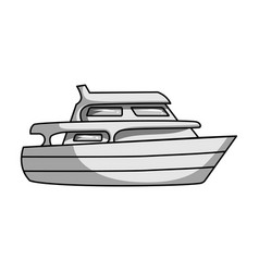 recreational marine boatboat for a family holiday vector image vector image