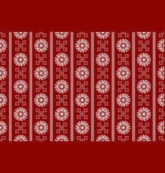 red seamless vintage ornamental pattern vector image vector image