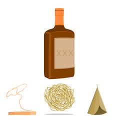 roll-field indian wigwam lasso whiskey bottle vector image