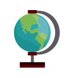 school globe map earth education element vector image vector image