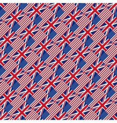 Seamless pattern with flags vector