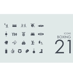 Set of boxing icons vector image vector image