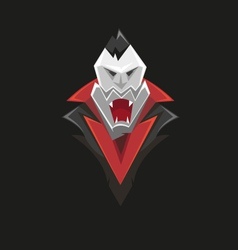 Vampire icon isolated on a black vector image vector image