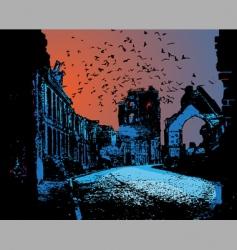 war ruins in vector vector image vector image