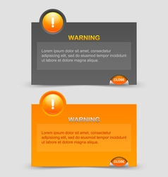 Warning notification windows vector image vector image